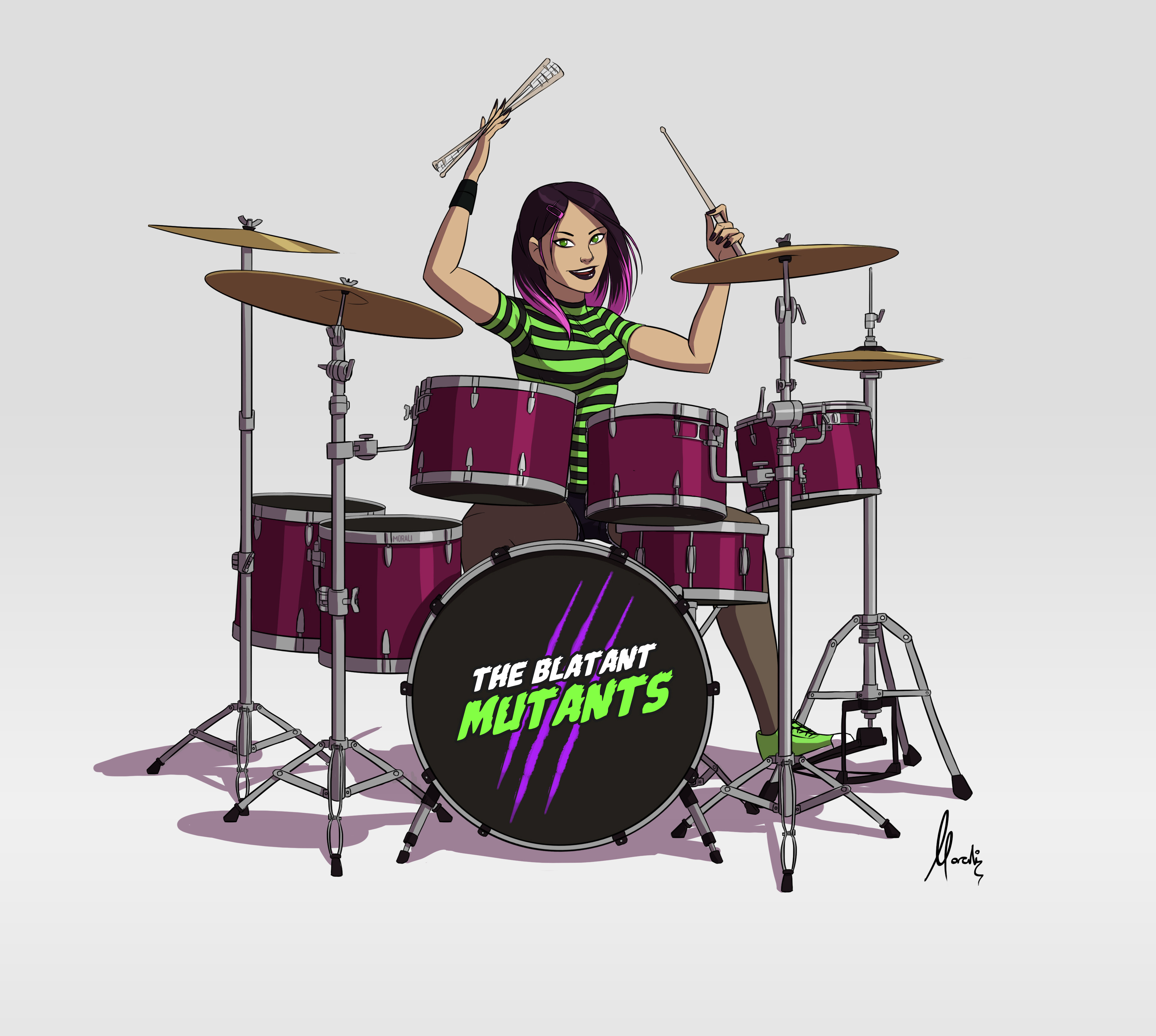 The drummer.