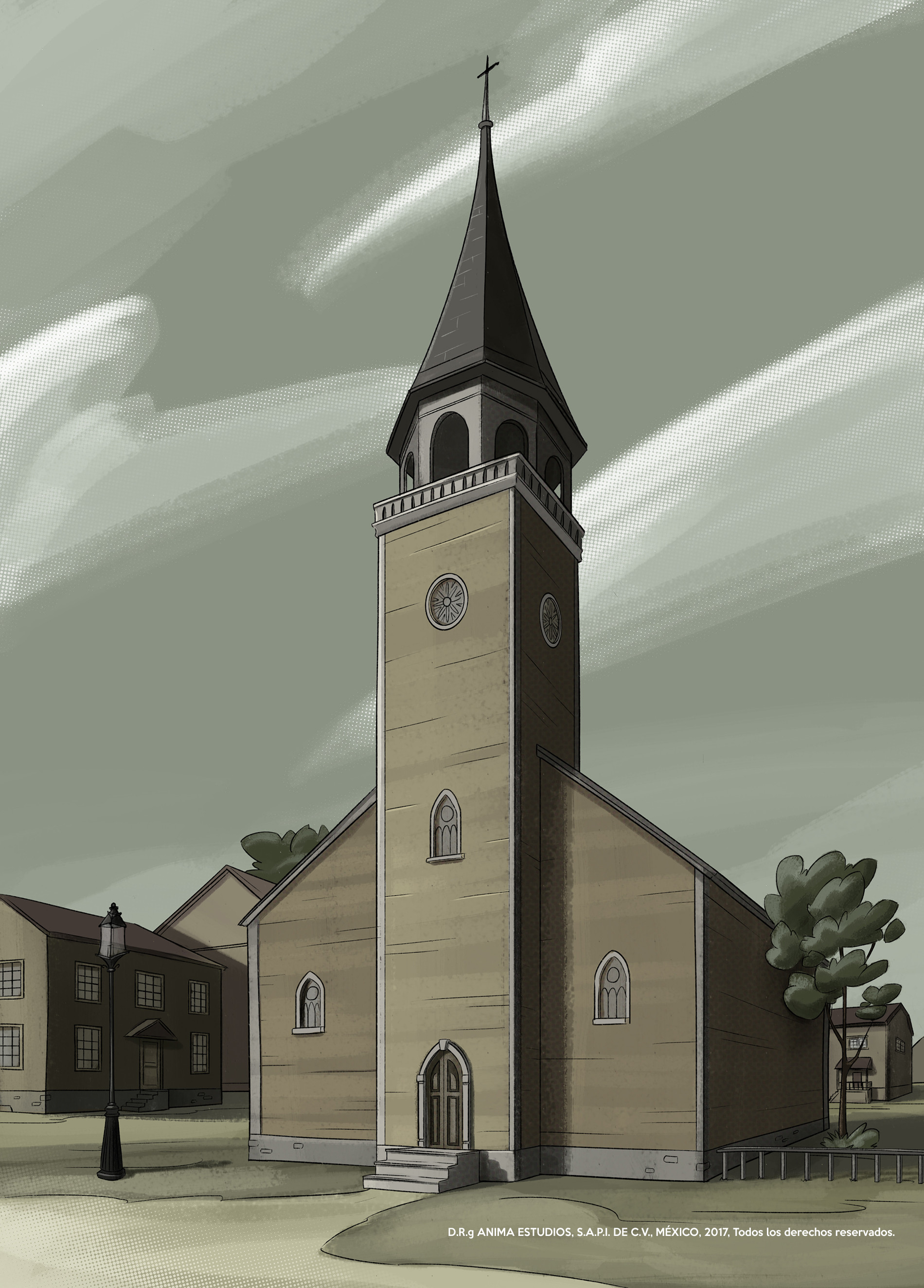 Concept art for the church.