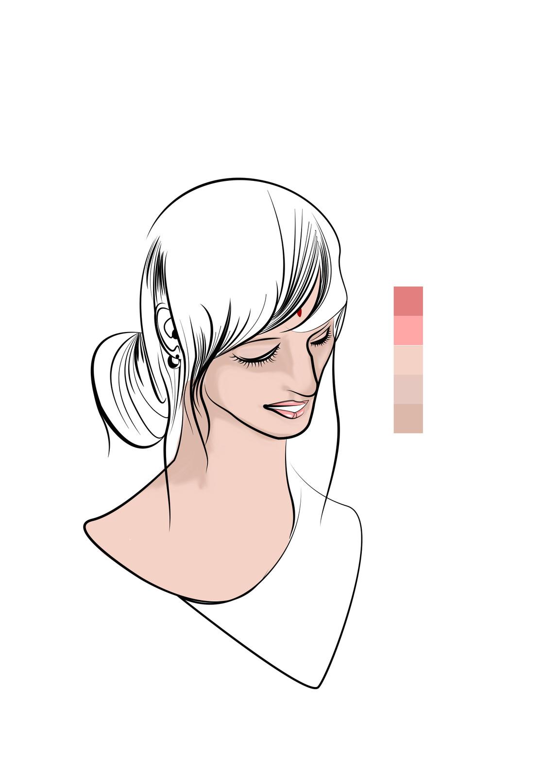 six - Base coloring more detail (Skin)