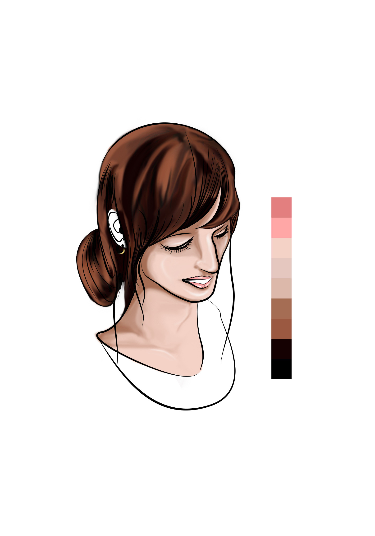 Twelve - Base coloring more detail (Hair)