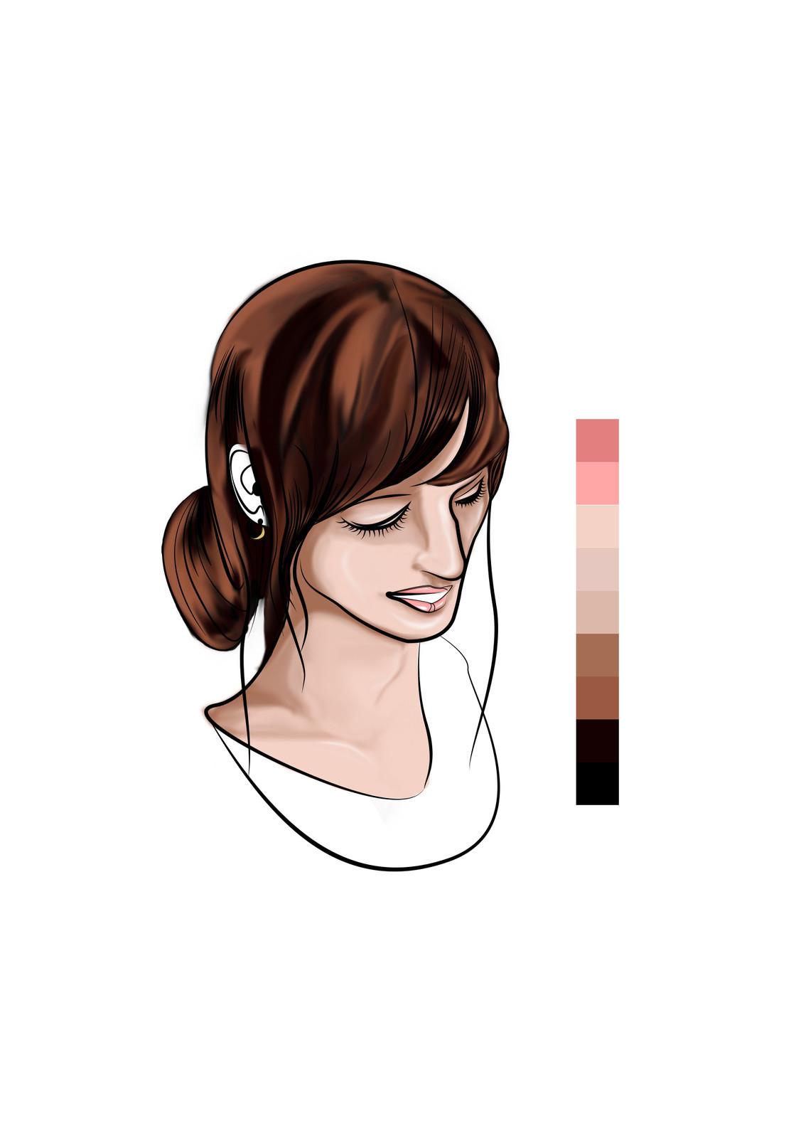 Twelve - Base coloring more detail (Hair)