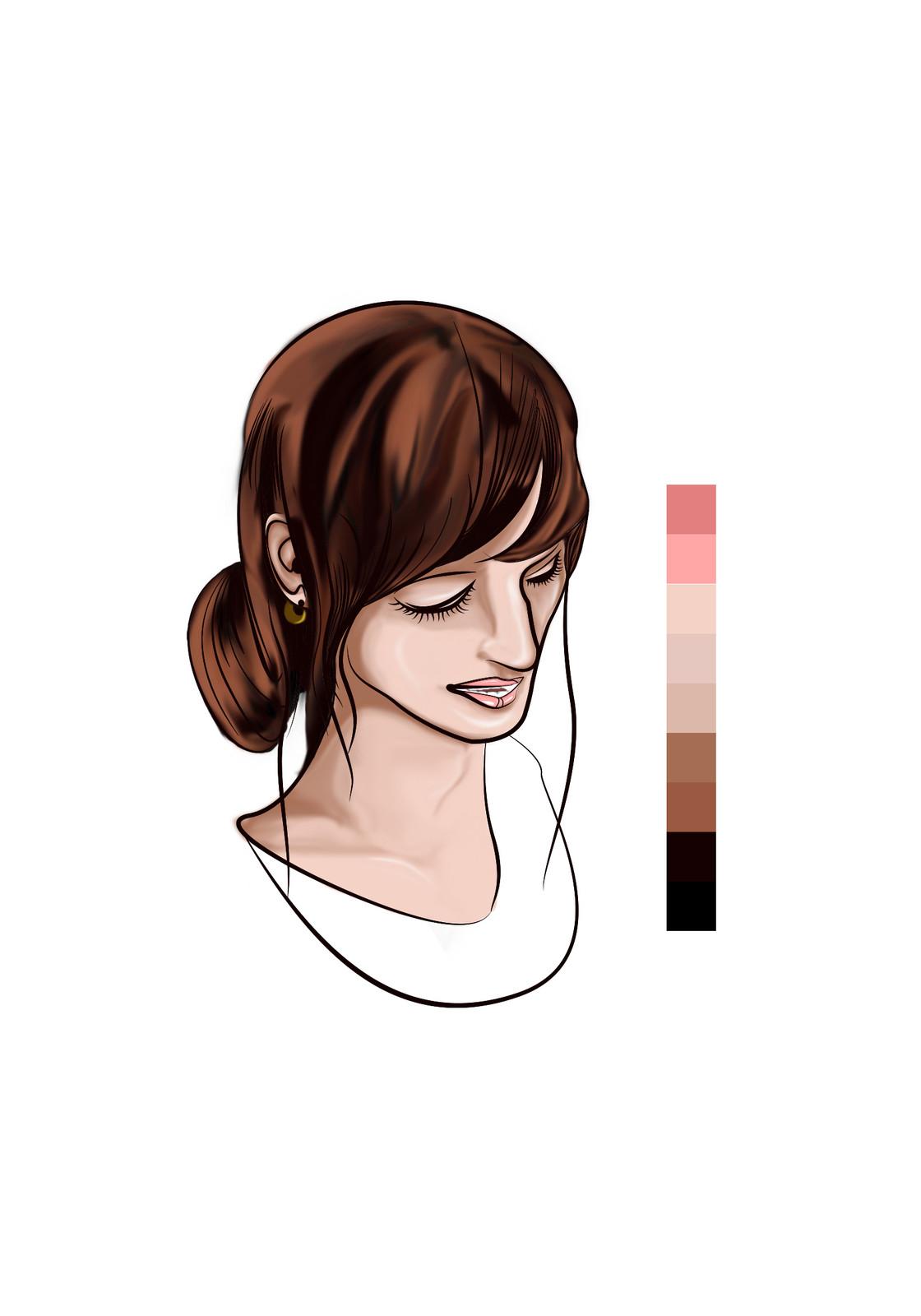 Thirteen - Base coloring more detail (Hair-ear)