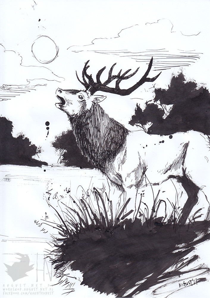 day 12 || Deer in rut (as a kitsch genre)
