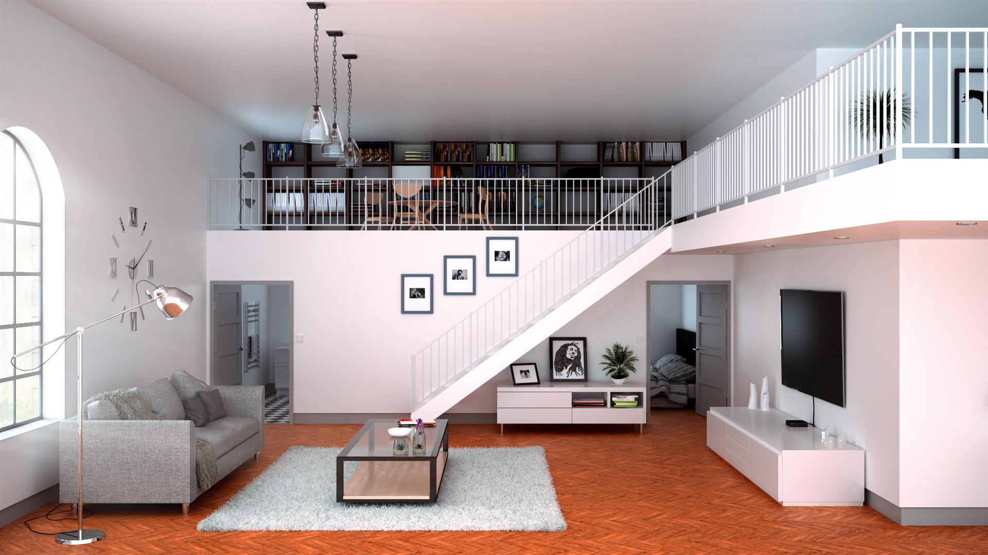 High Ceiling Apartment