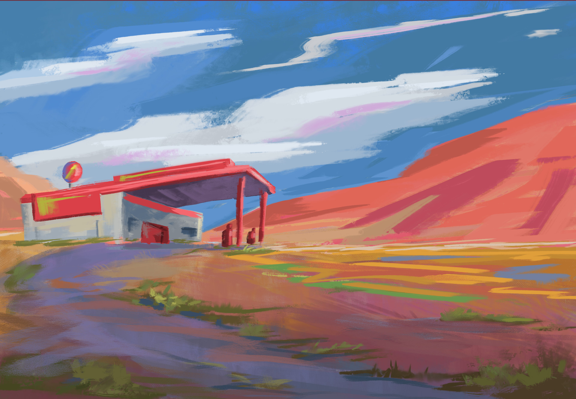 Jack dowell gas station 02 painting