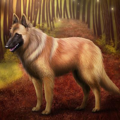 Etskuni art belgian shepherd tervueren 3