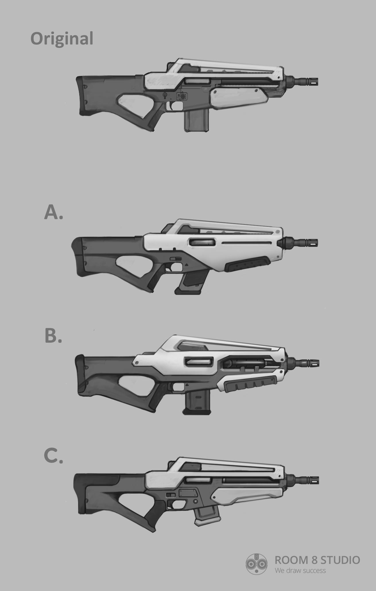 Room 8 studio sci fi rifle concept