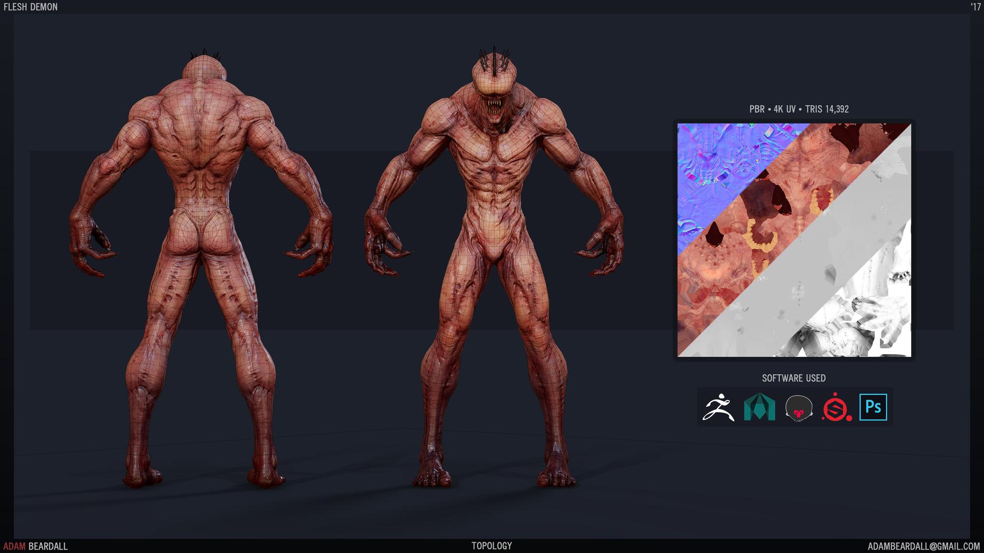 Adam beardall flesh demon topology