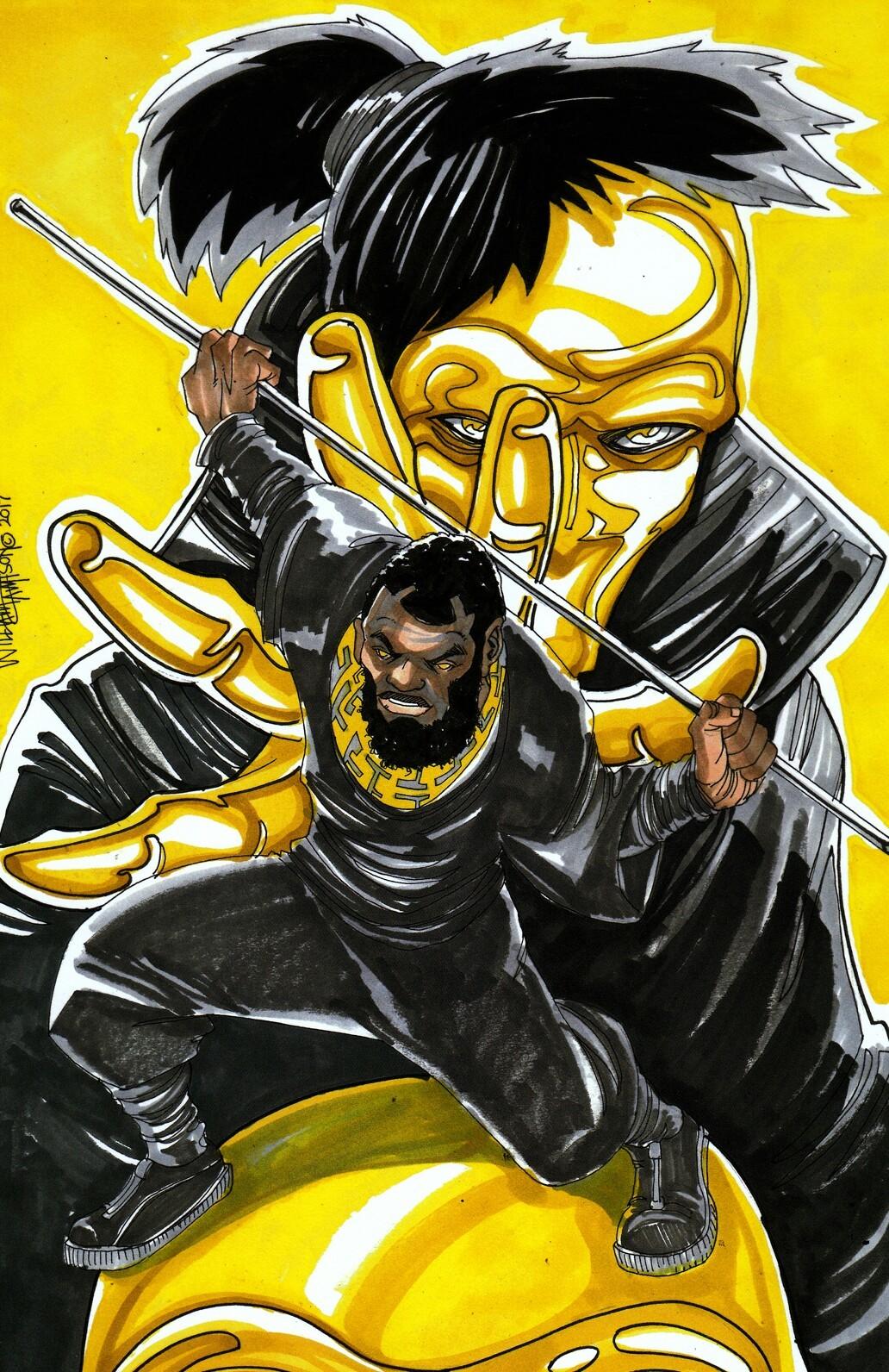 Afromation art huemans goldface 2