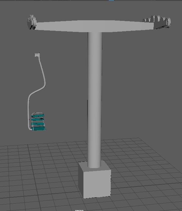 Simple lift tower in maya
