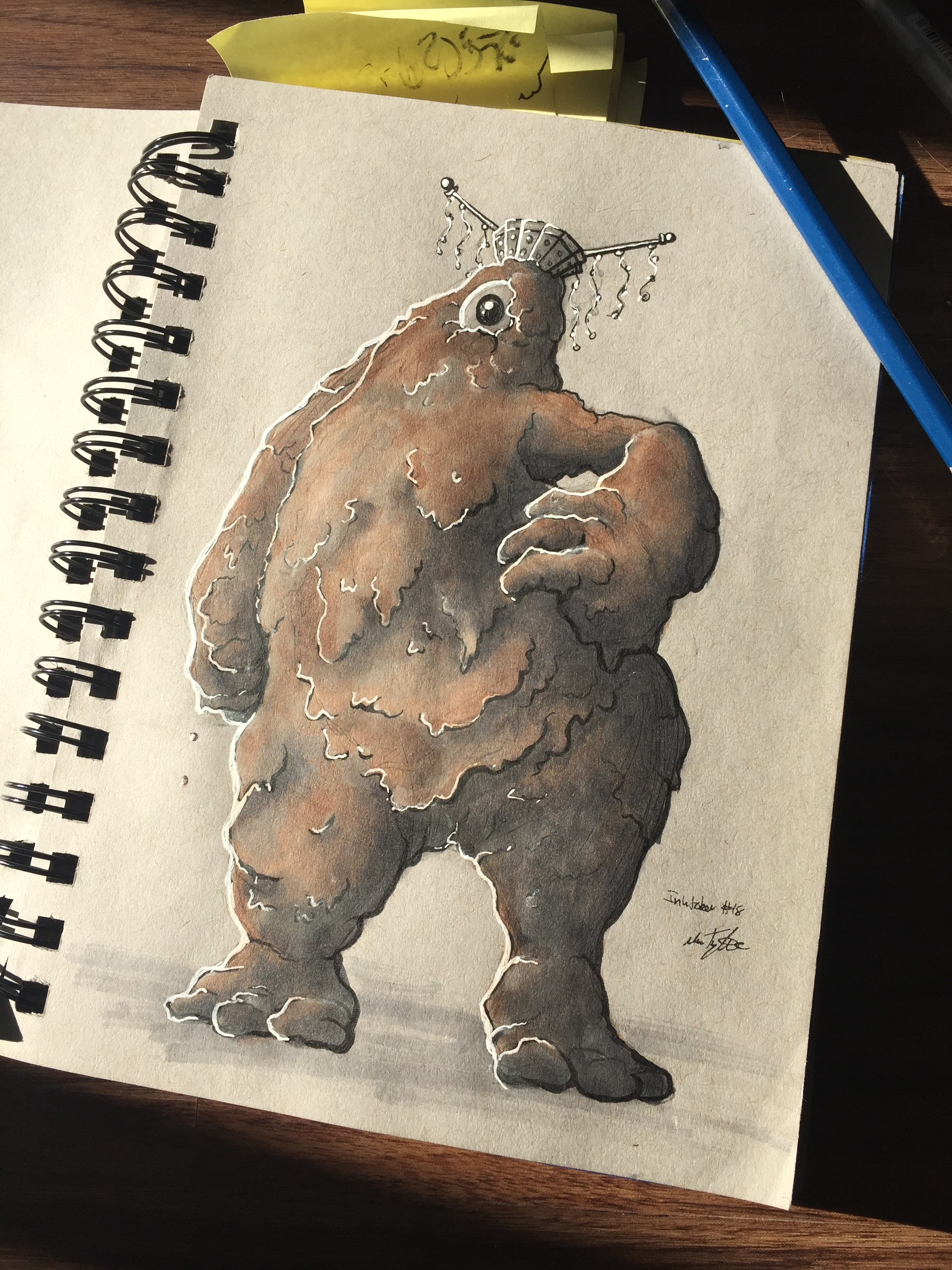 Mud Monster sketch, looking fab.