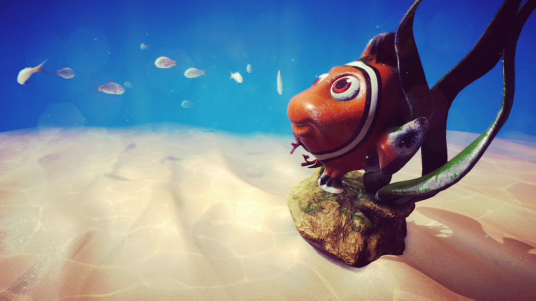 screenshot from the underwater animation