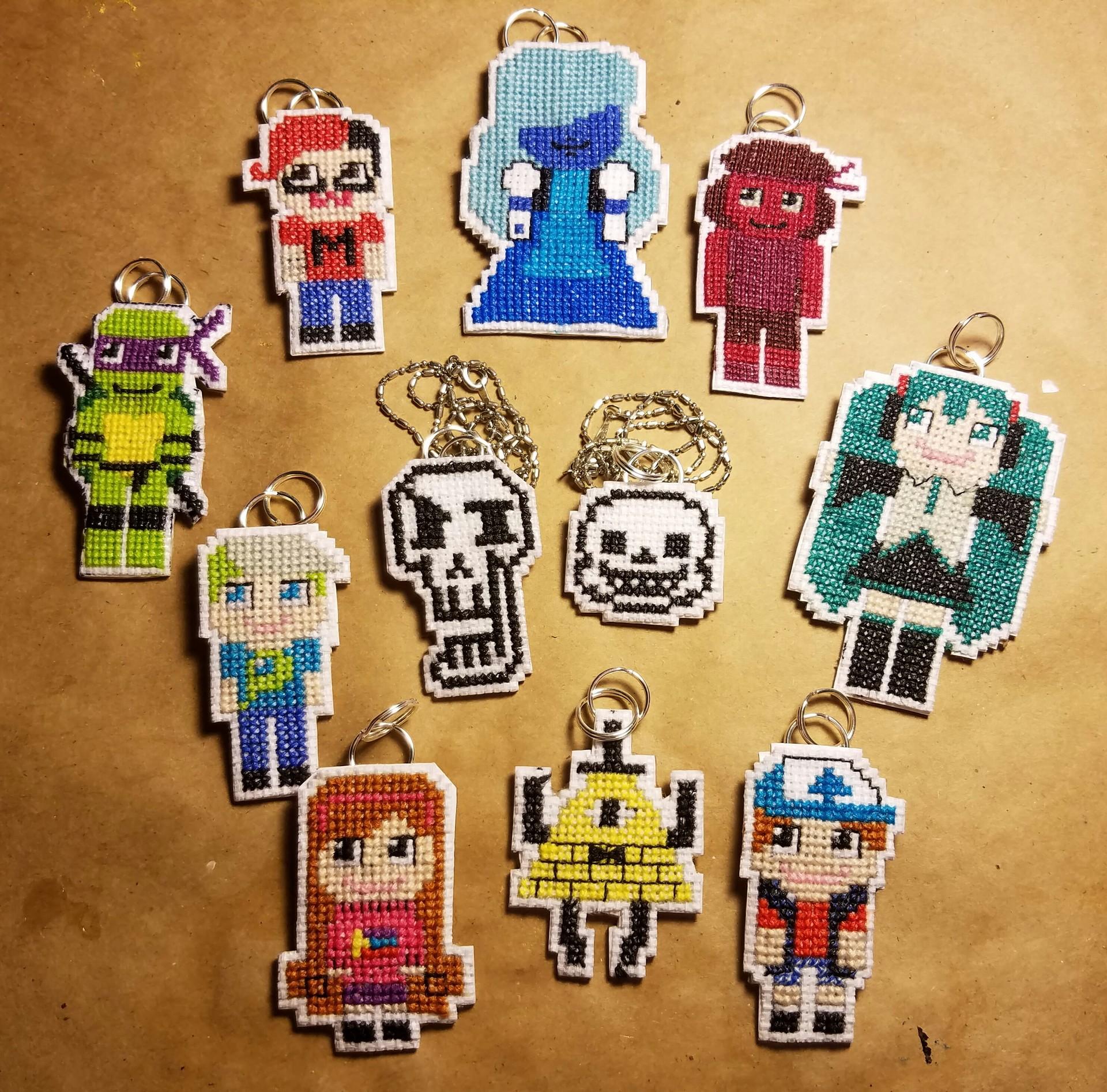 Miranda Attales Mini Cross Stitch Pixel Sprites