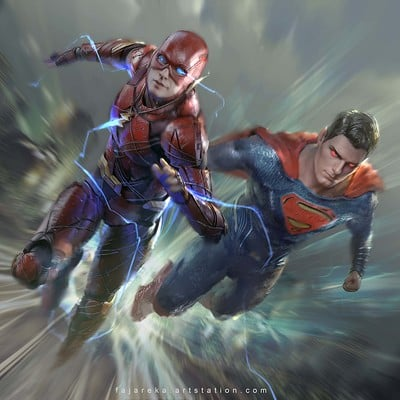 Fajareka setiawan flash vs superman