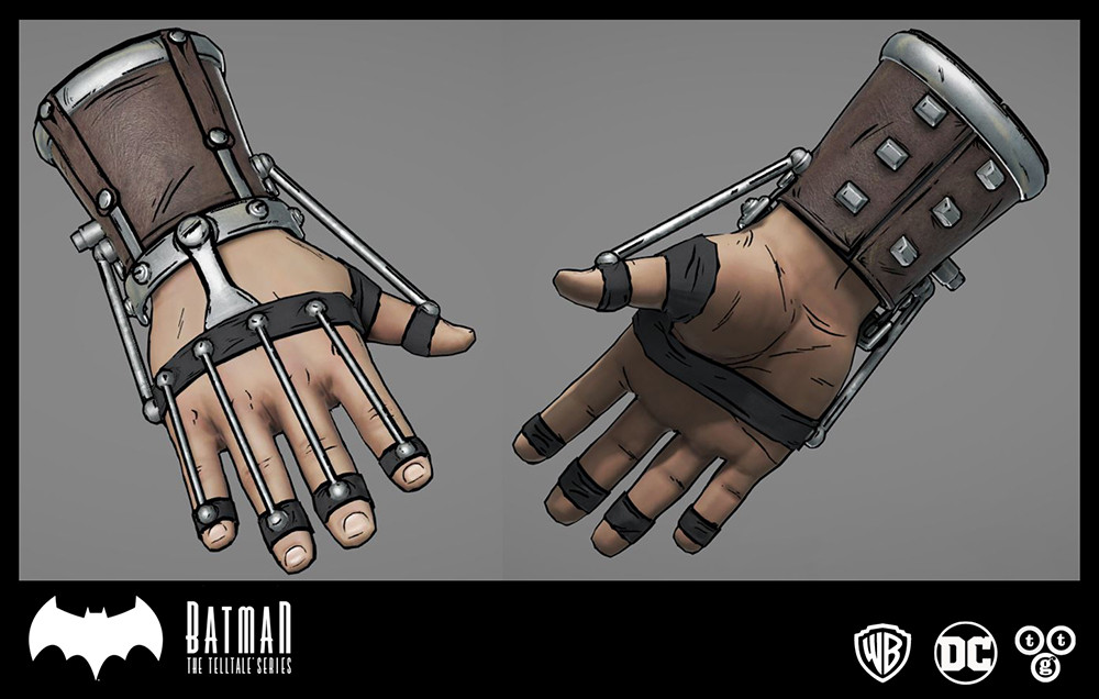 Hand clamp I modeled and textured for Batman The Telltale Series: The Enemy Within.