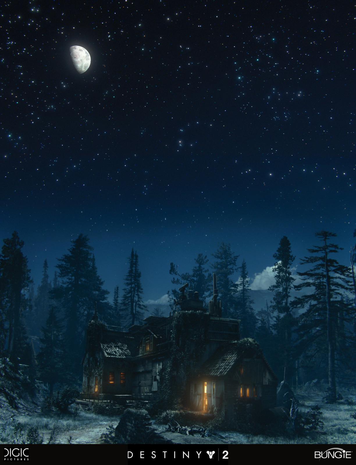 graded matte painting