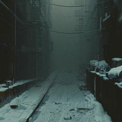 James o brien vadim ignatiev winter foggy street