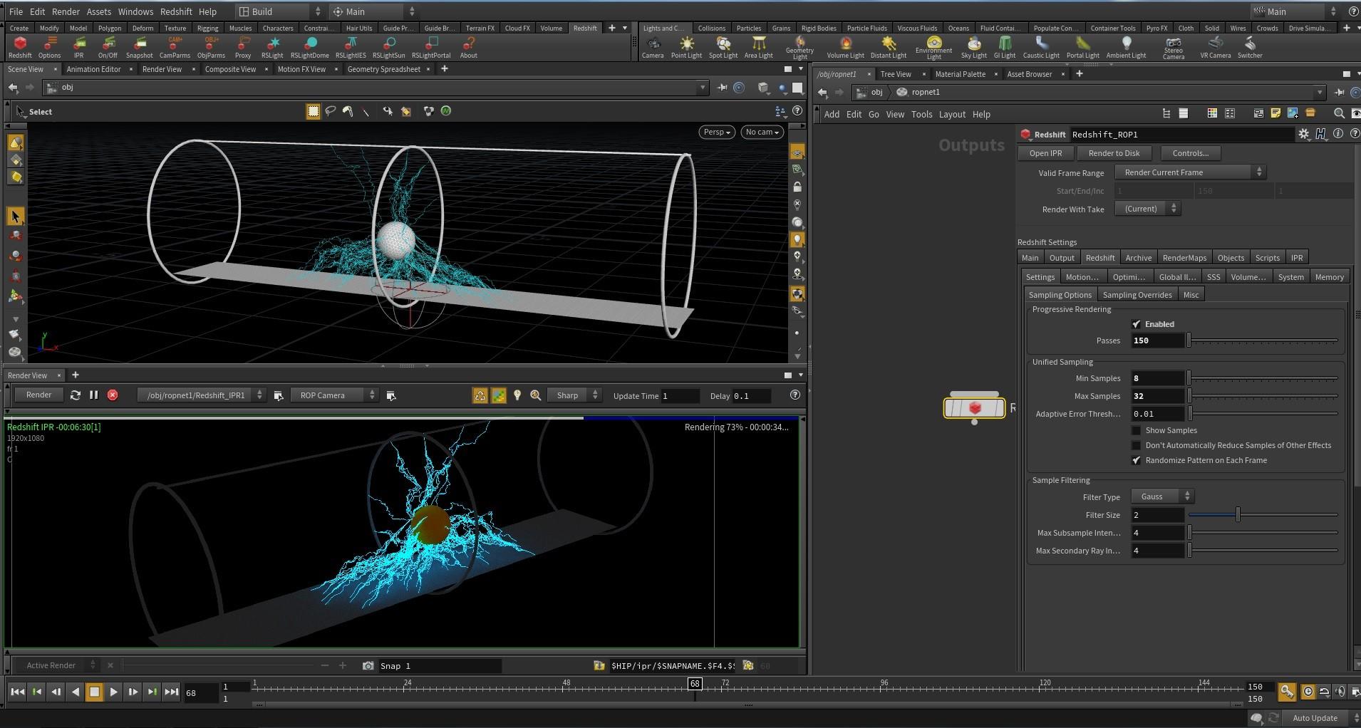 ArtStation - lightning FX 01 - Houdini, Eugenio Herrera FXTD
