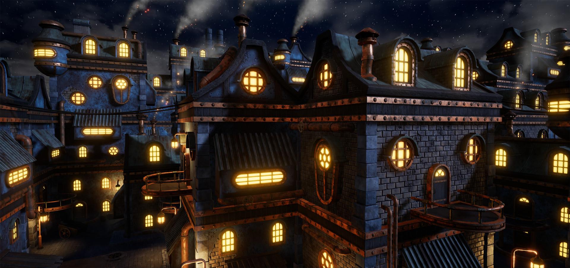 Daniel lindberg steampunkcity night1
