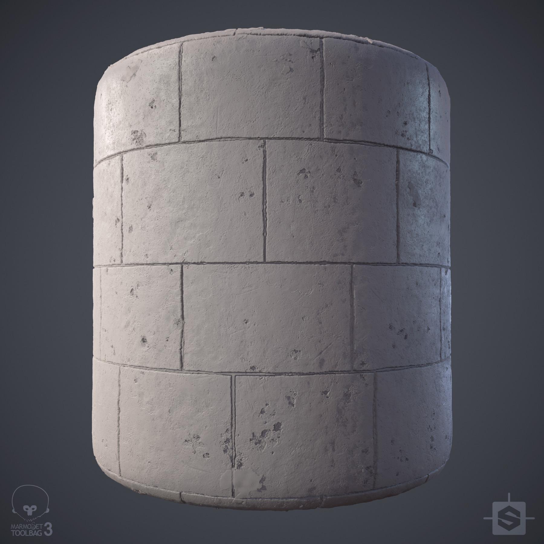 Ryan leslie limestone wall cylinder grey 01