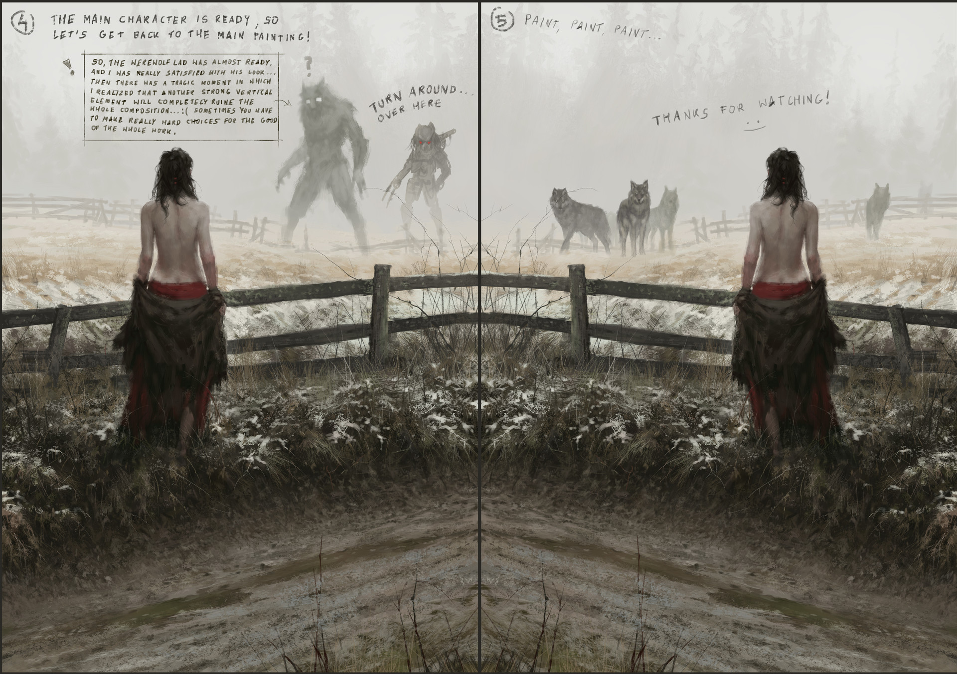 Jakub rozalski true nature process03