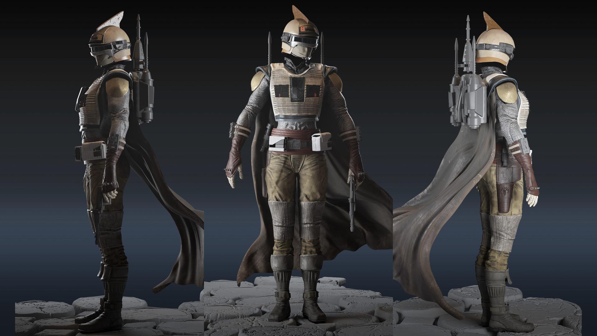 Artstation Starwars Uprising Bounty Hunter Jon Giacalone