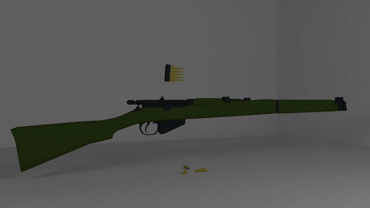 ArtStation - Lee-Enfield Lowpoly, Weston Covey