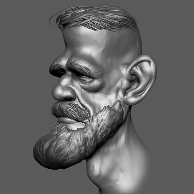 3D Sculpt of a Conor McGregor