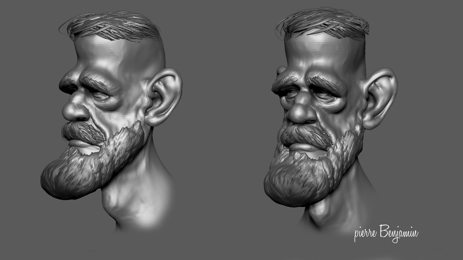 3D Sculpt of a Conor McGregor