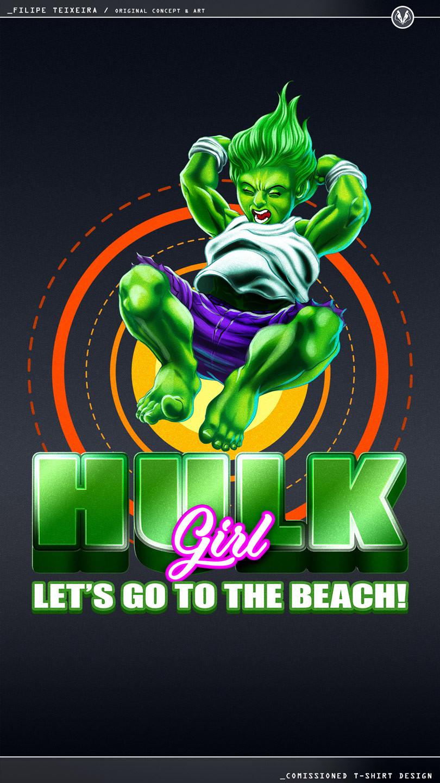 Artstation Hulk Girl Tee Filipe Teixeira