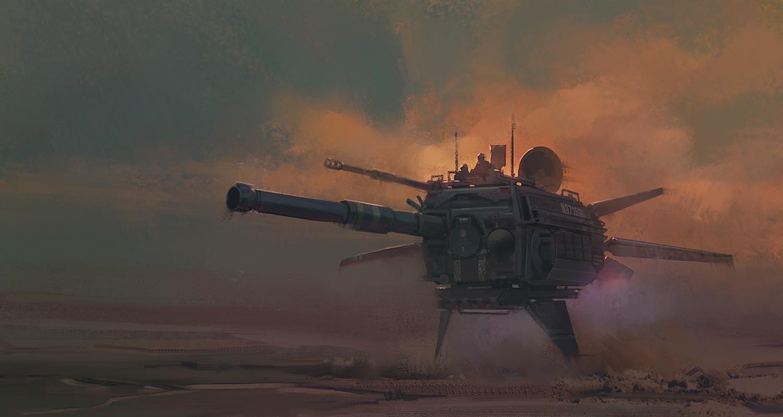 Flying tank