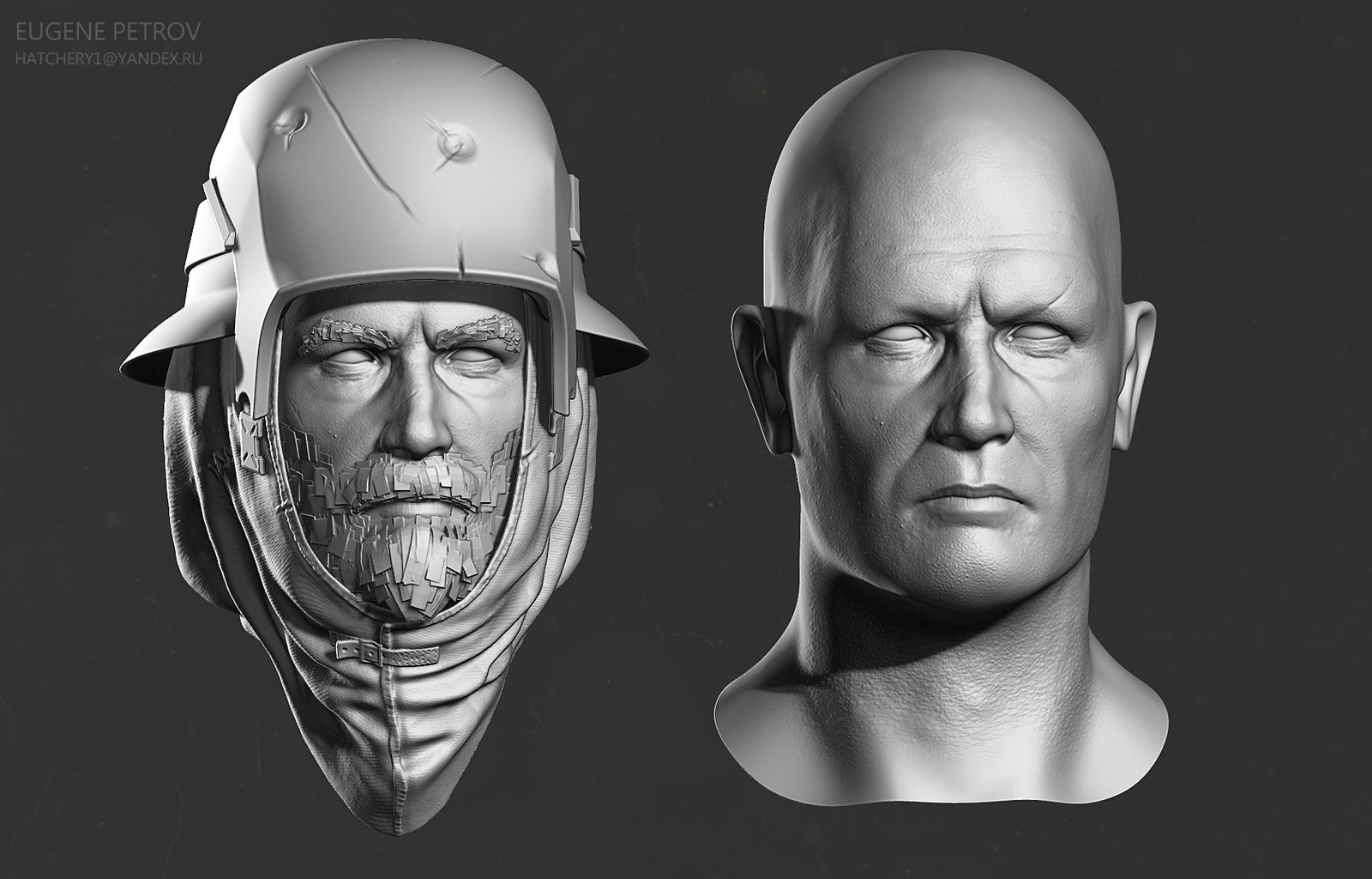 high poly head