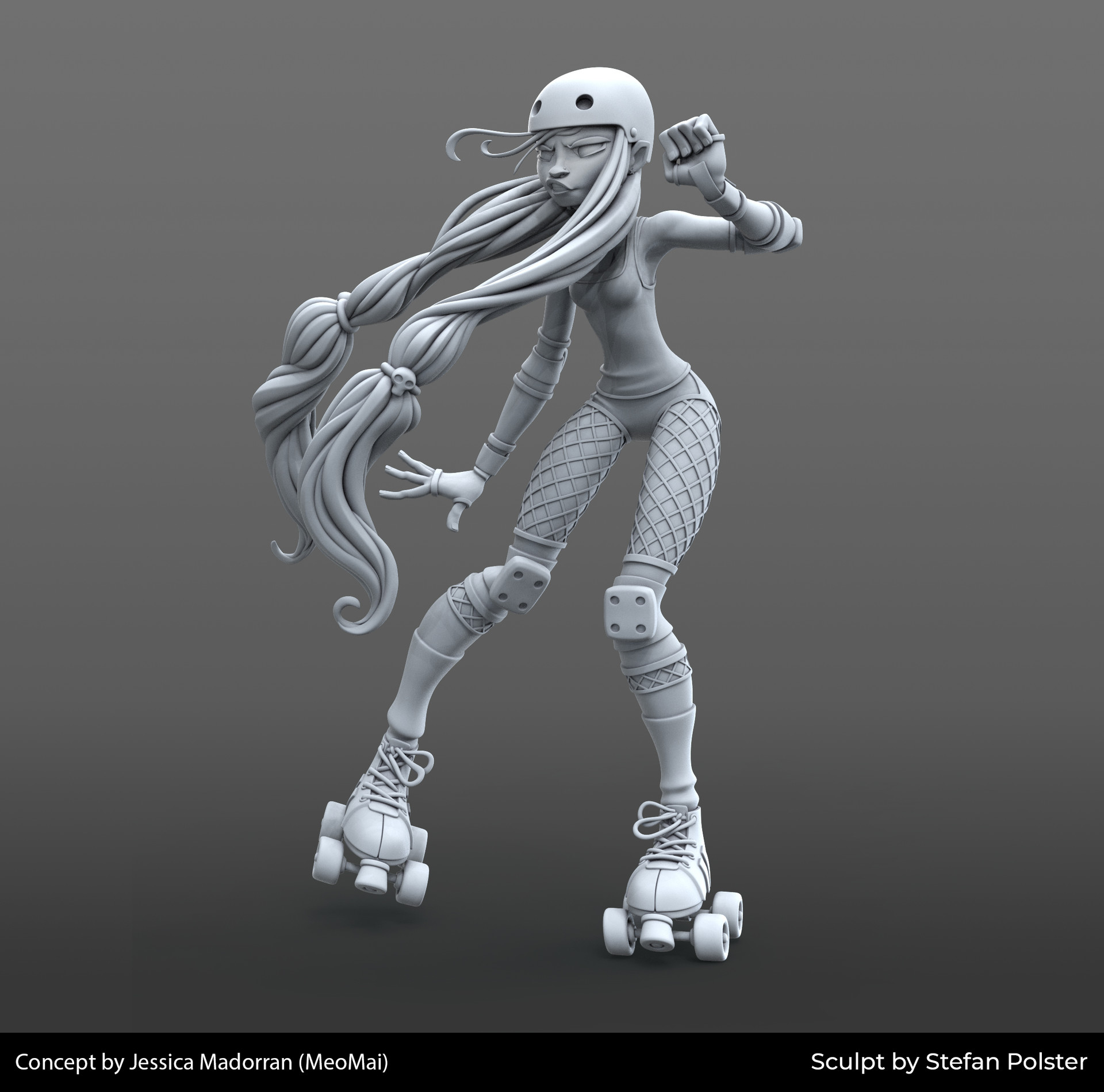 Stefan polster roller girl clay front