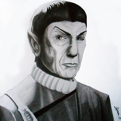 Josh simon spock a tribute to leonard nimoy by jsimonart d8k1abf