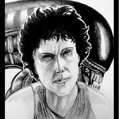 Josh simon ellen ripley an illustration by jsimonart d8lgtka