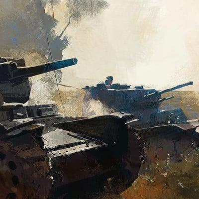 Greg rutkowski soldiers tanks 2 1500