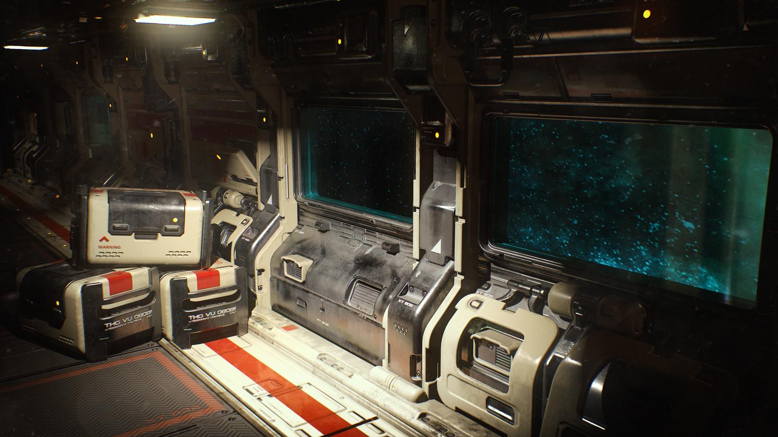 Sci-Fi Corridor. Modular environment v2.