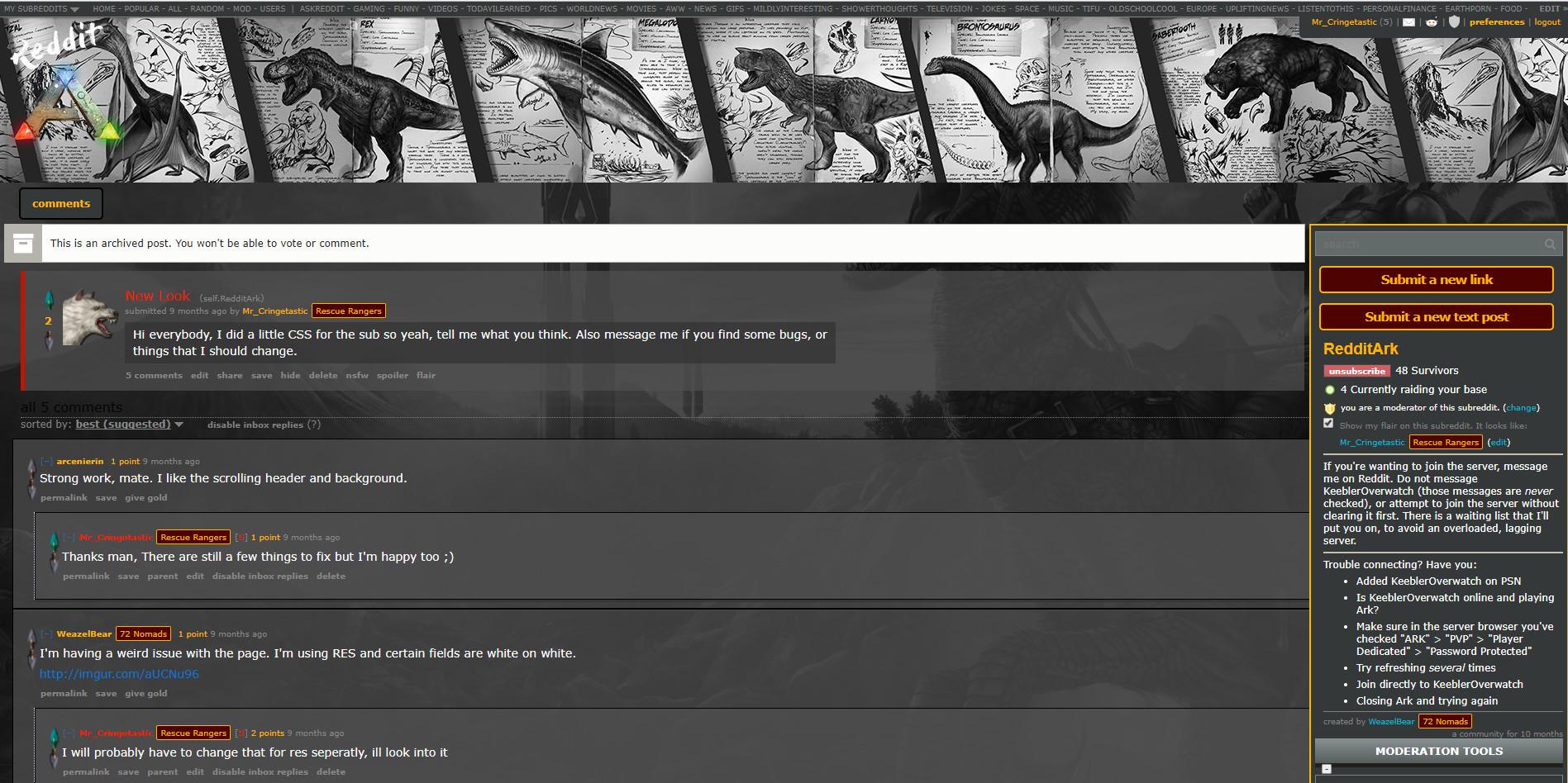 ArtStation - Reddit CSS, Sacha Meertens