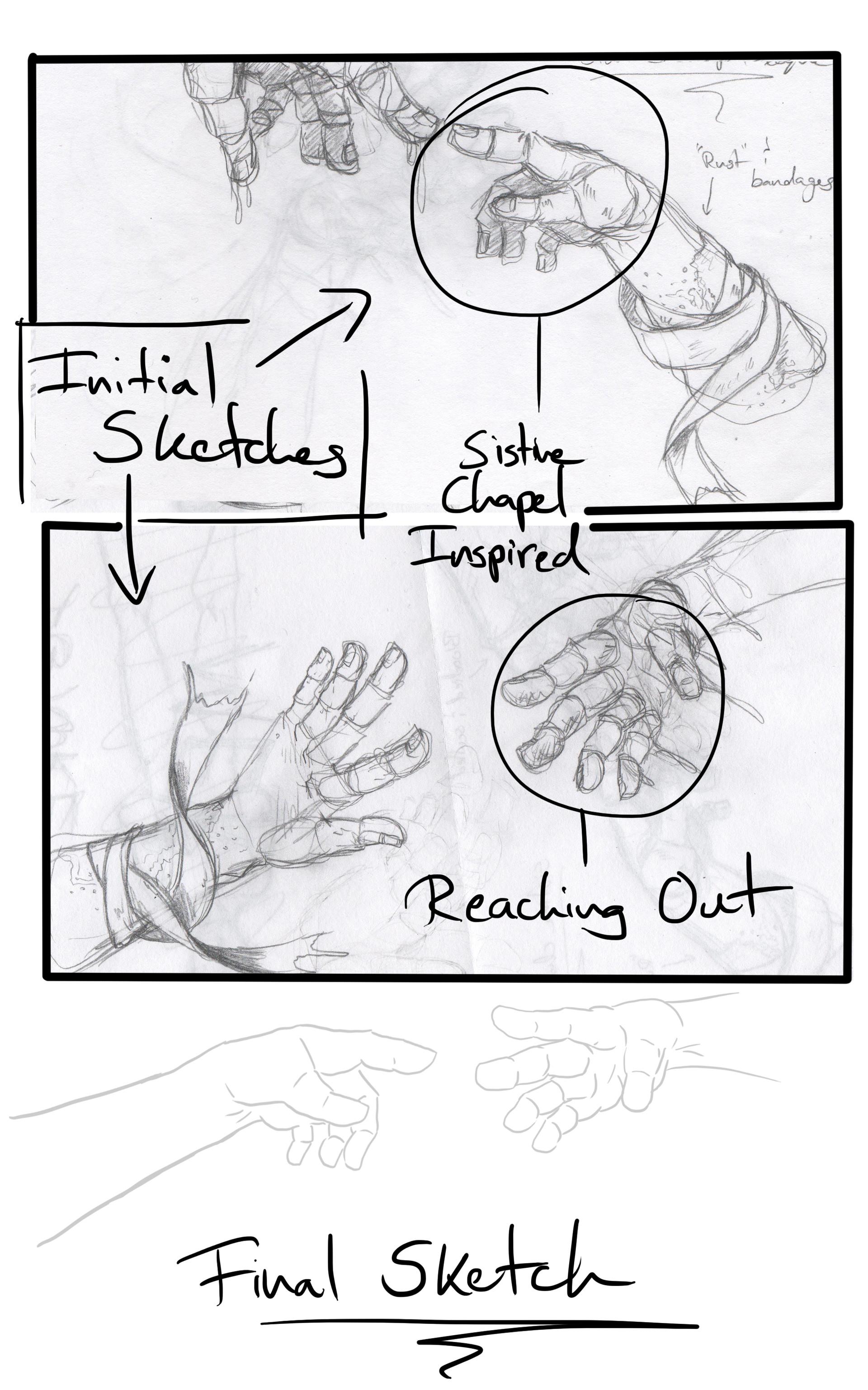 Detonya kan rough sketches
