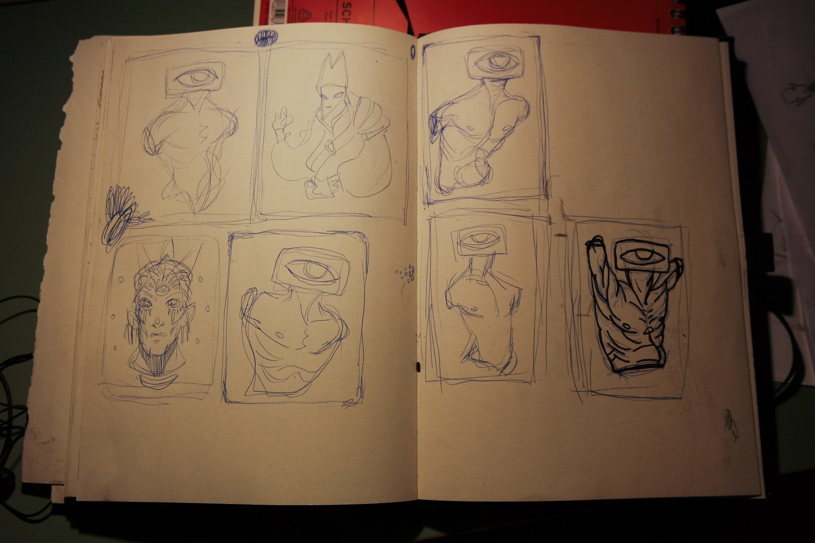sketches for a linocut i'll be making soon