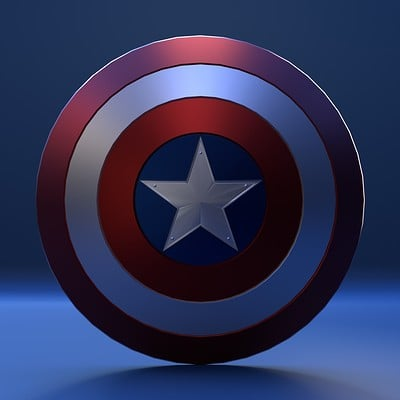Andrew moore captain america shield front shot 1