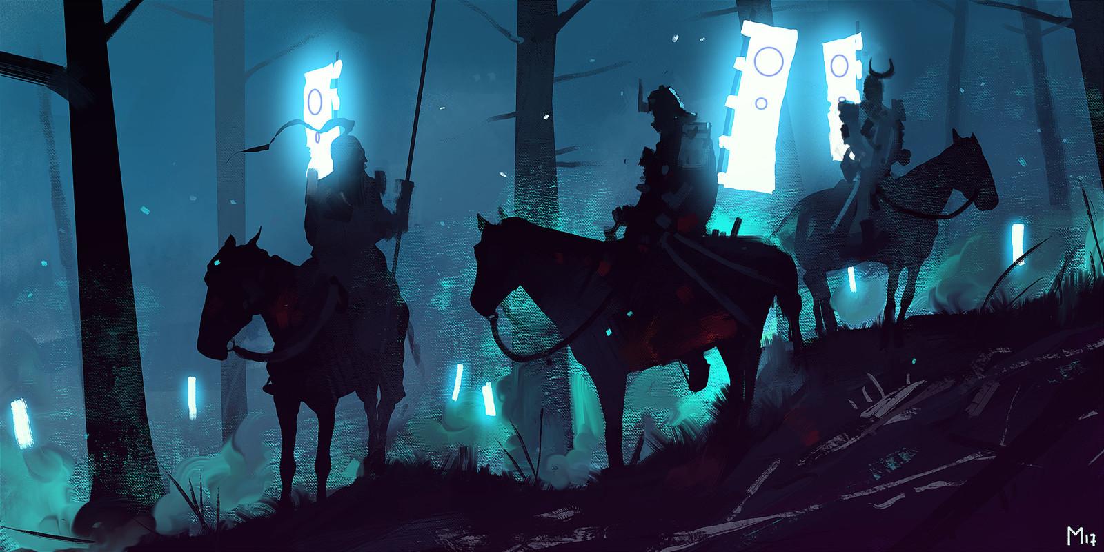 Blue Light in the Dark
