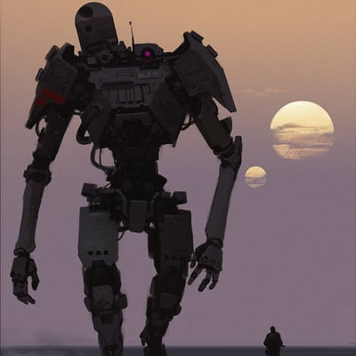 Miguel iglesias robotsunset artstation