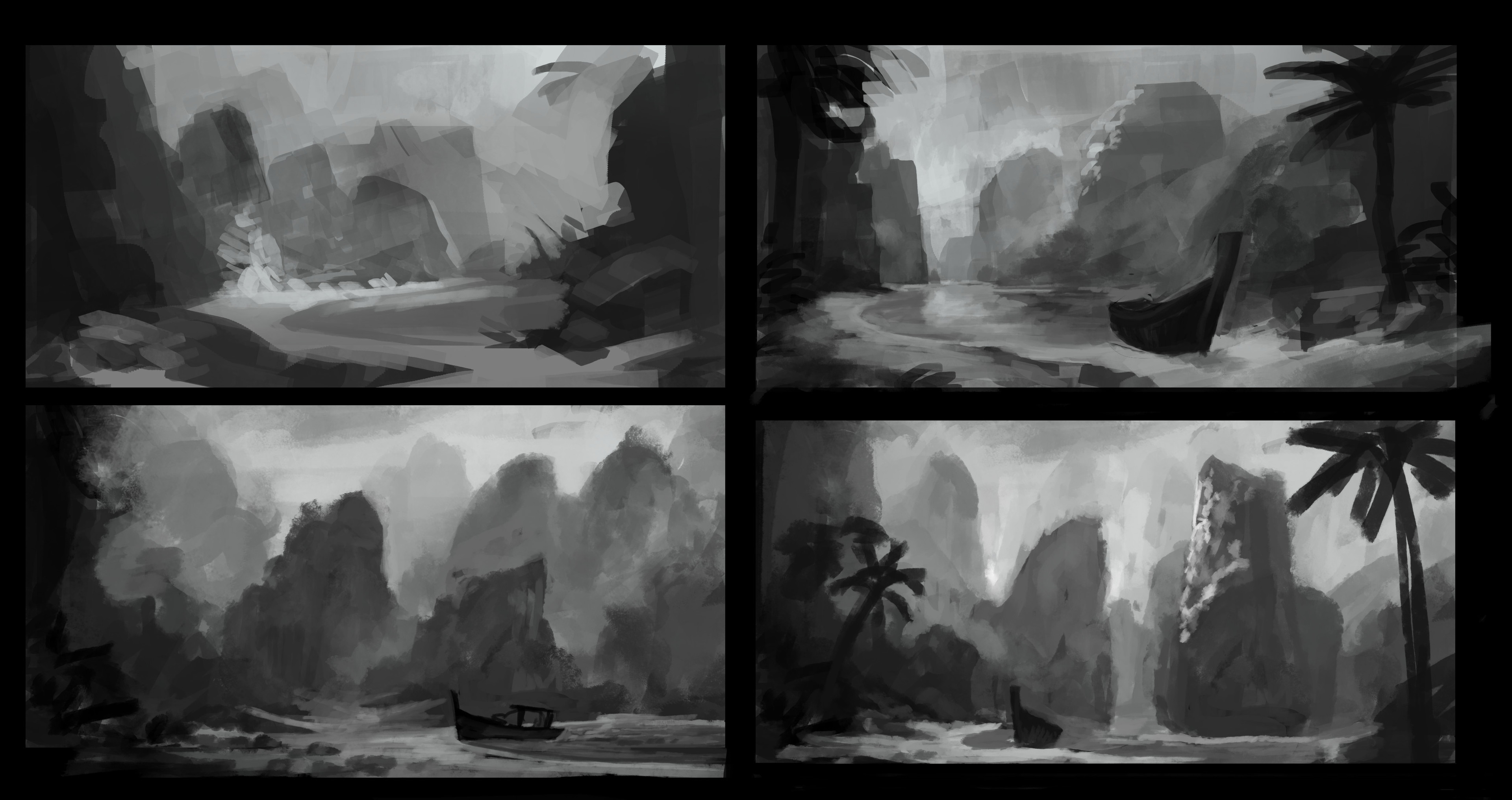 Some early black and white doodles.