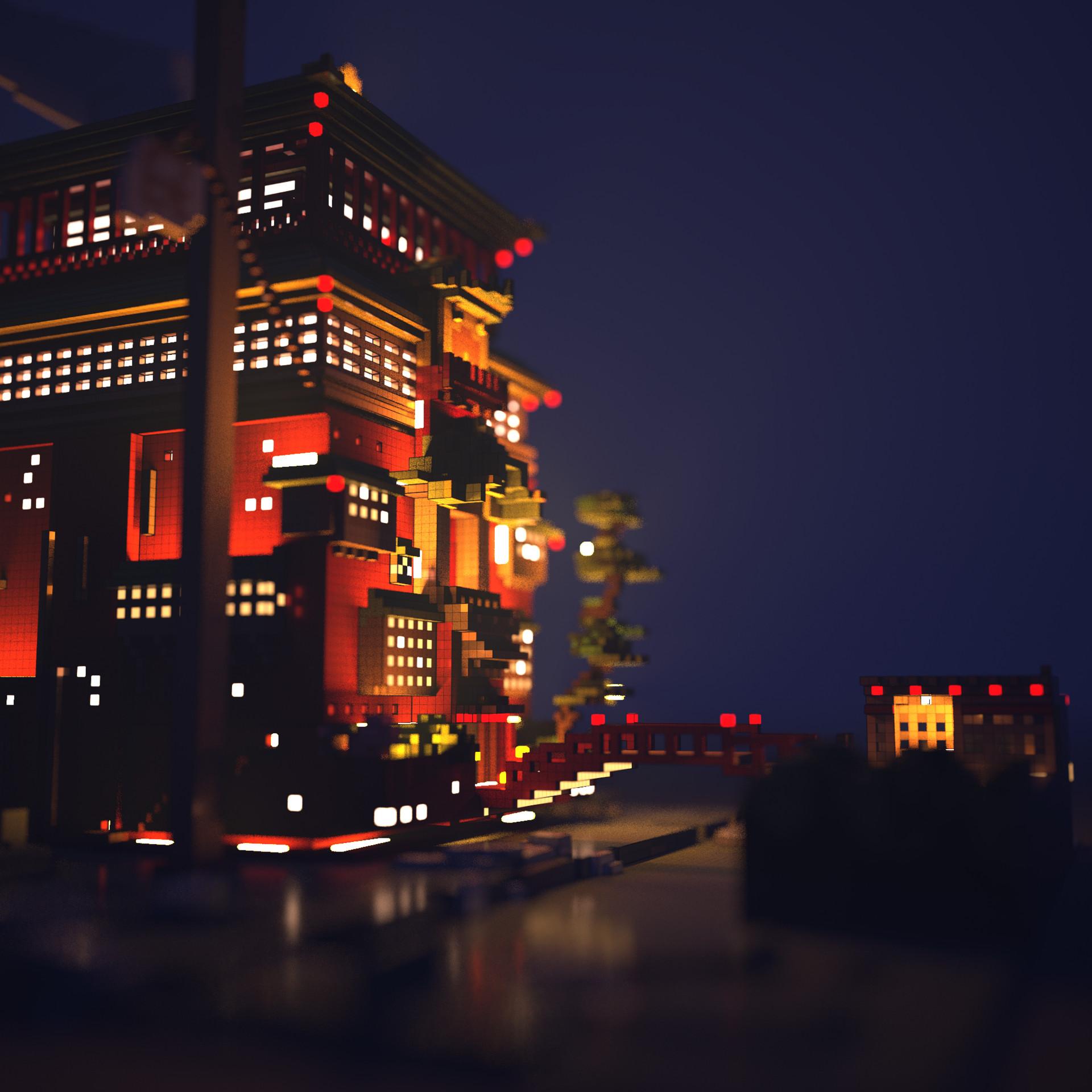 Artstation Spirited Away Chihiro House Voxel Art Adrian Malfatti