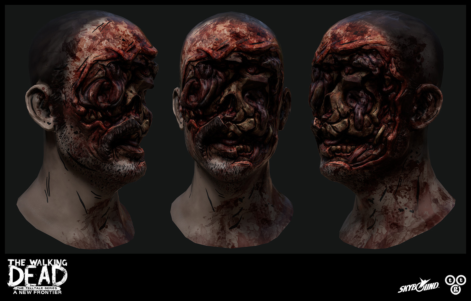 Quick renders of Carver's head.