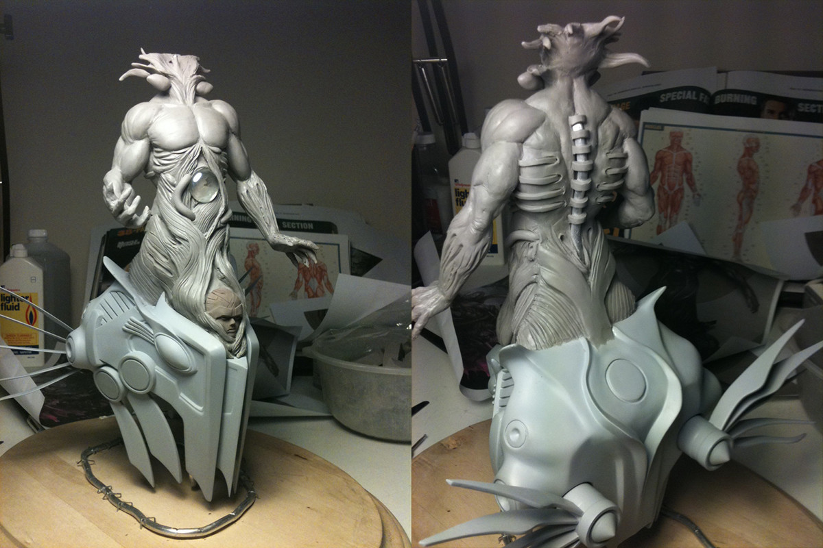 God of Nightmares sculpted by Chris Gabrish