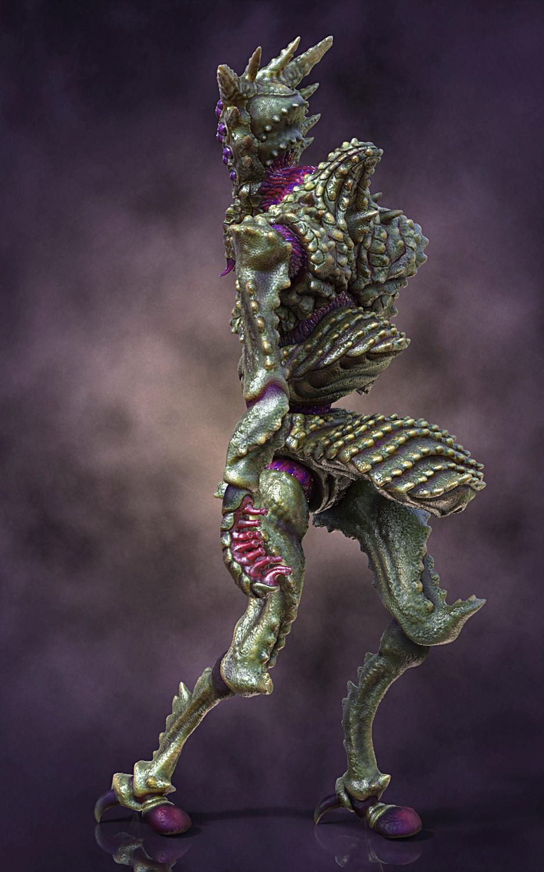 Ken calvert alien insectoid renders back 3qrt