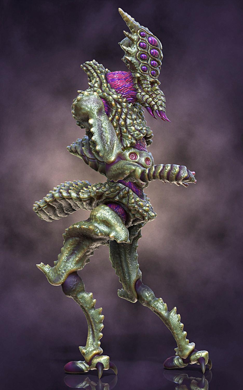 Ken calvert alien insectoid renders right