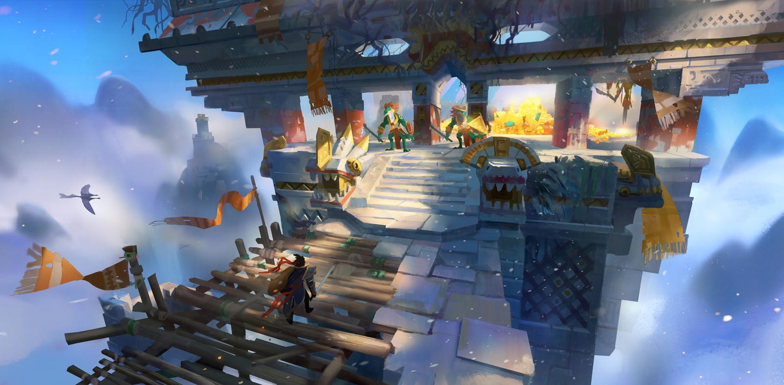 Adventure Mobile Game - Mountain Skull Temple